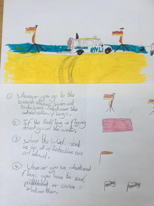 Noa's beach safety facts about flags