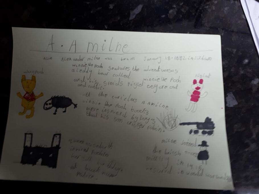 Josh's beautifully presented A A Milne notes