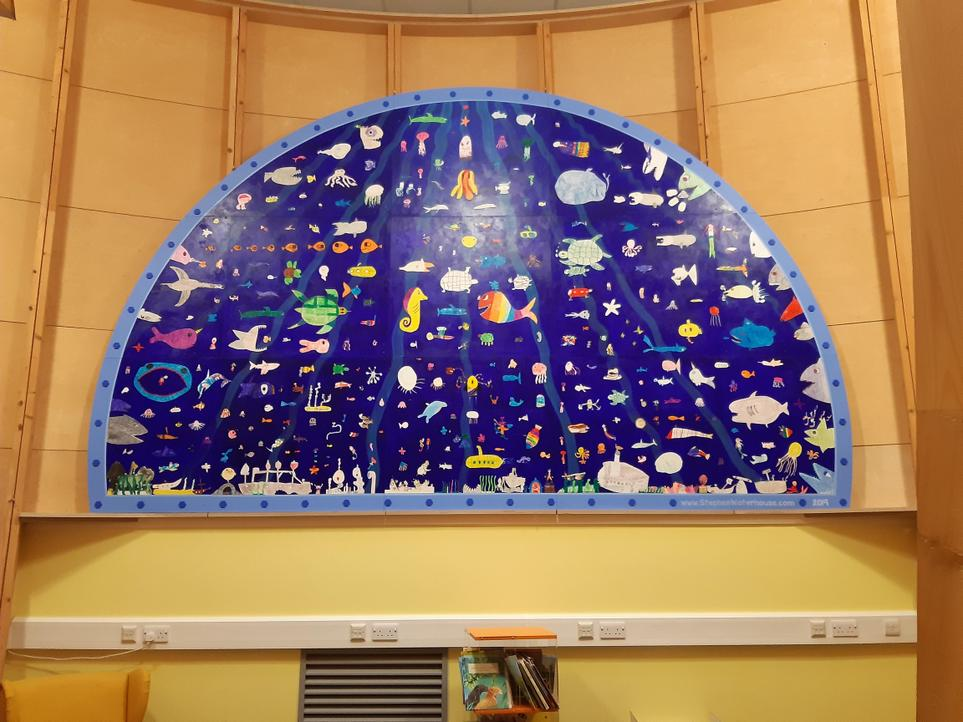 Library Mural 'Under the Sea'