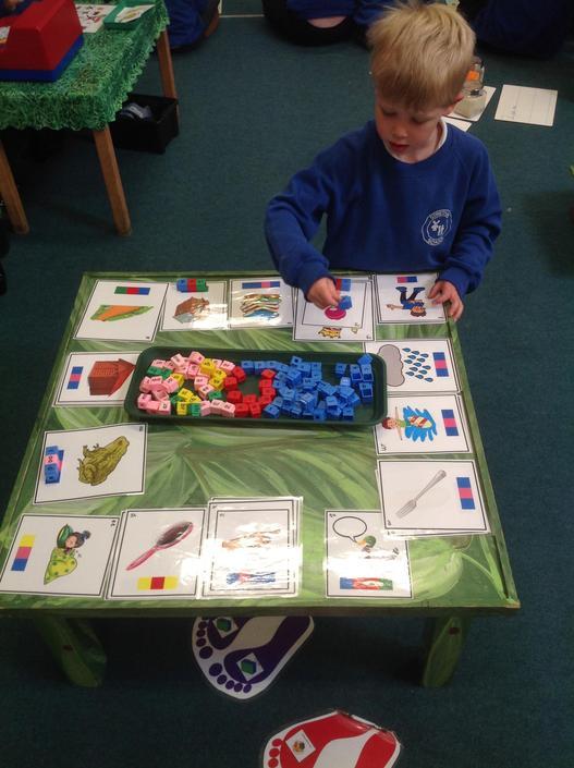 Using Literacy skills to word build.