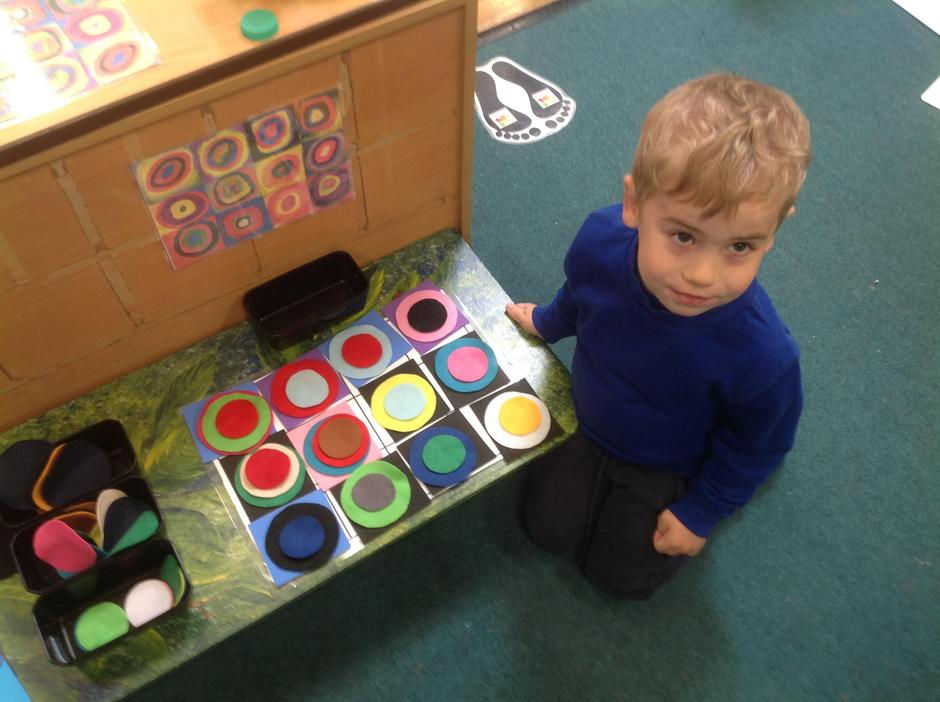 Kandinsky inspired piece of Art work. (Circles)