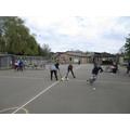 Applying our hockey skills in a game of Treasure Island