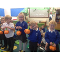We also showed our paper pumpkins.
