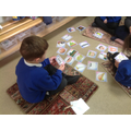 Segmenting and blending to read with previously learnt digraphs.