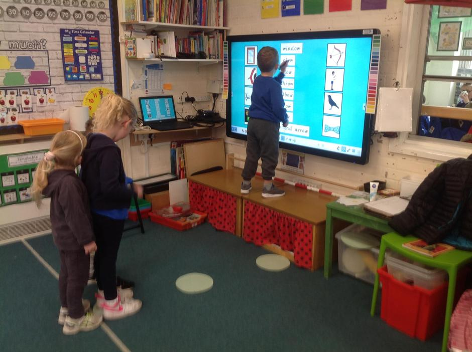 We have been learning 'ow' as in snow, blow, mow.
