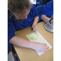 Paint mixing for effect in Art