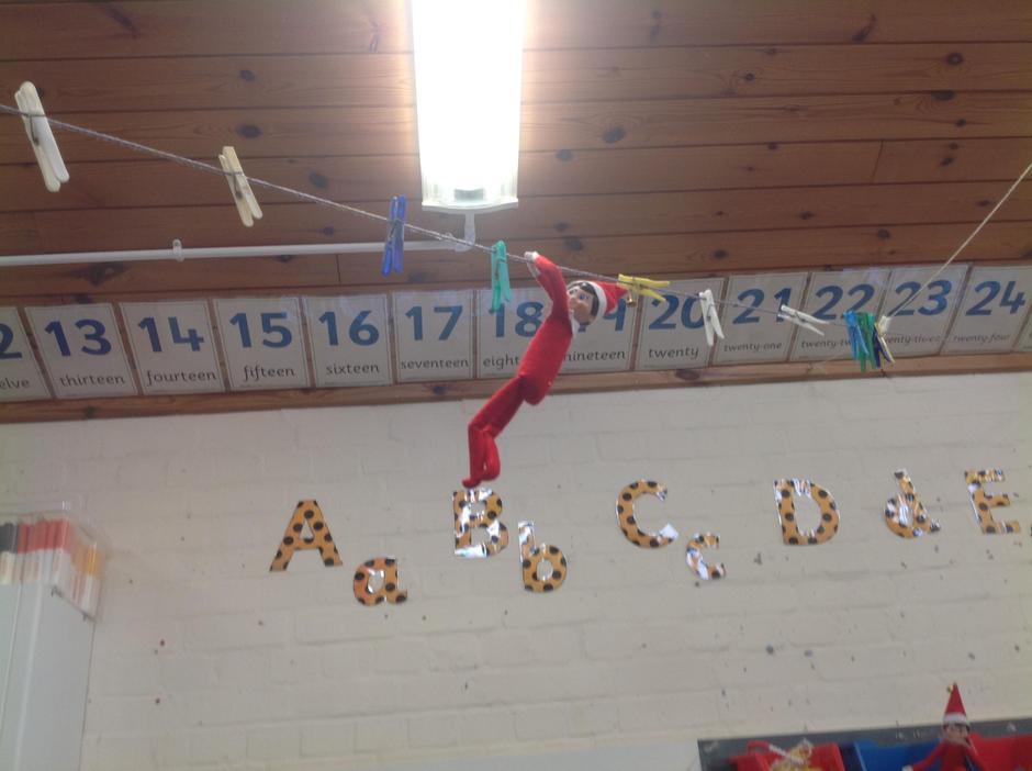 When we arrived at school on Monday we spotted 4 Elves in our classroom!