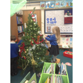 Decorating our class tree.