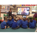 A very special zoom assembly. Santa spoke to us and read us a story!