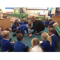 As a class we learnt what a repeating pattern is.