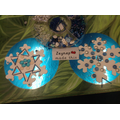 Creating beautiful snowflakes from loose parts.
