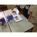 The children used 'compare bears' to weigh/balance their flour, sugar and butter.