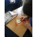 Overlaying our background colour with oil pastel