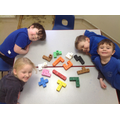 Exploring all of the different shapes that can be made with 5 cubes.