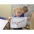 """During Explore and Learn time. """"I've drawn a repeating pattern necklace for your Mrs J"""""""