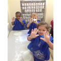 Our hand became all soapy. It felt really slippy!