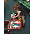 The children also used larger equipment to measure and create Christmas trees.