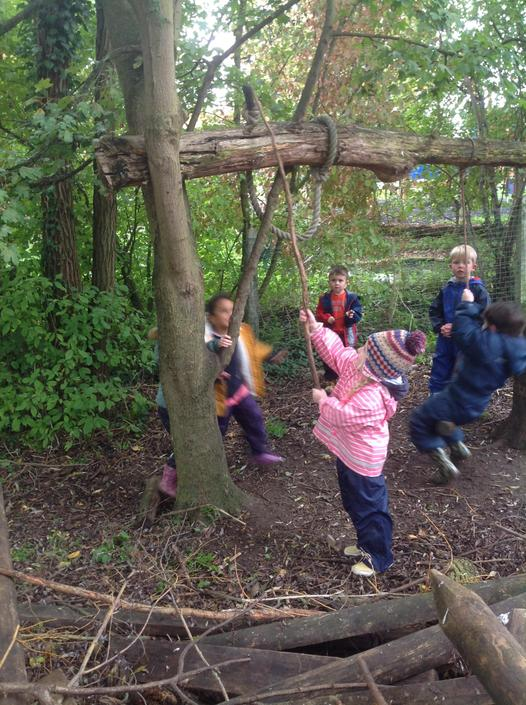 Problem solving to get the rope down.