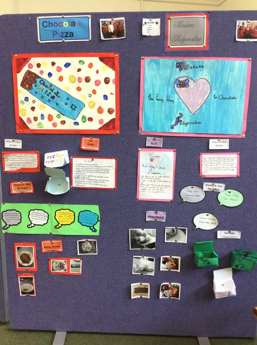 Year 5 - Fair Trade Cafe display by pupils