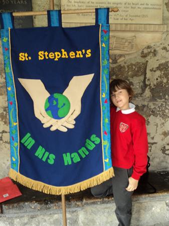 Year 6 banner for Southwark Cathedral