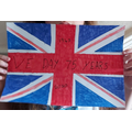 Celebrating VE Day; Flag making