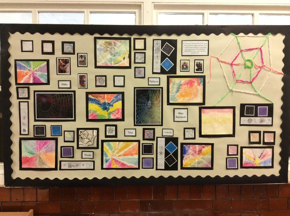 Year 3 - Art based on Charlottes Web