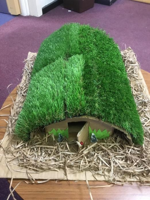 An Anderson shelter from WW2 in year 4