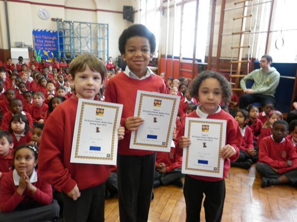 Lewisham Maths Competion Certificates