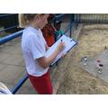 Children record the scores.