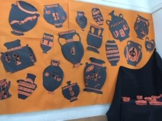 Greek art in year 5
