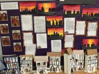 The Great Fire of London in year 2