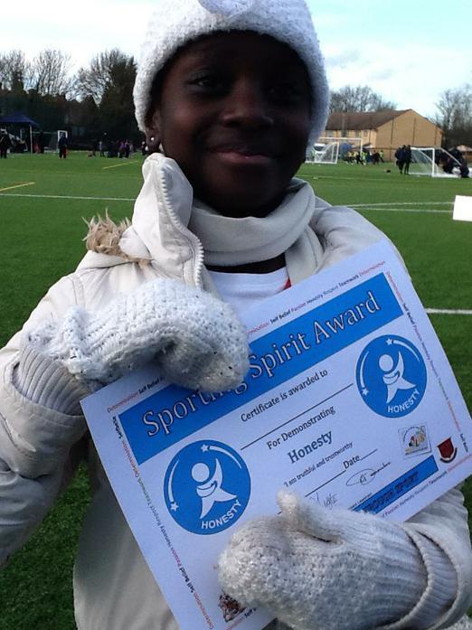 Award for outstanding sportmanship