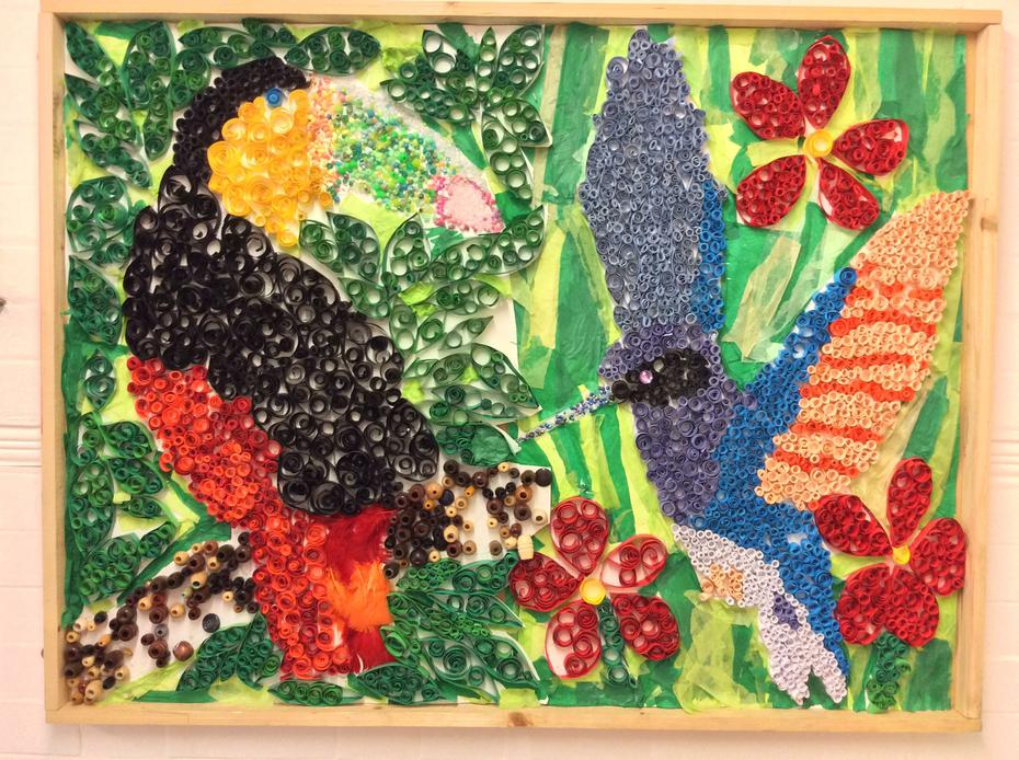 Year 3 - Rainforest Art