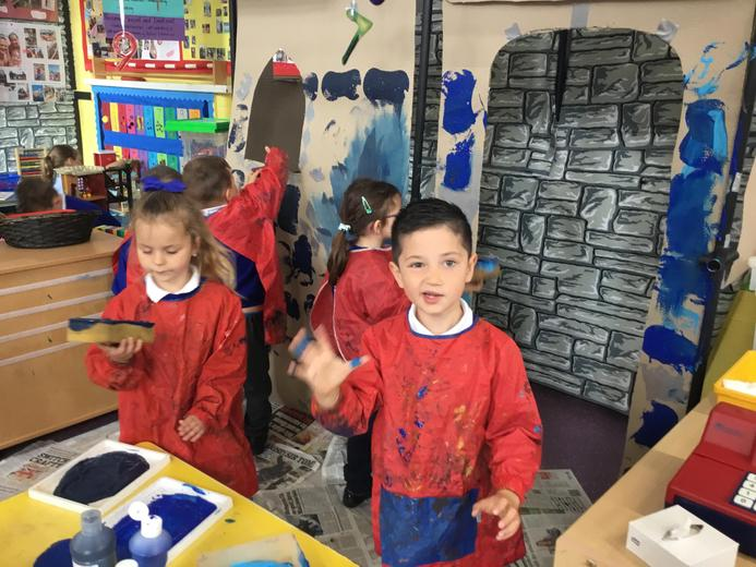 Making our castle!