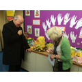 Fr Anthony and Mrs Nash judge the Easter bonnets!