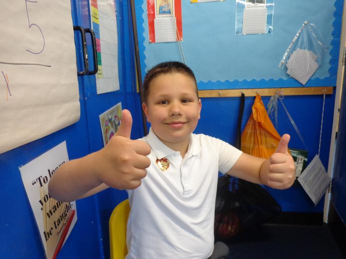 Well done to our star of the week - for his fantastic acting in playing Mrs Arable