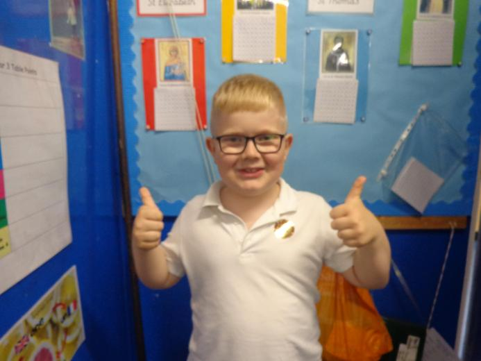 Well done to our star of the week - for his wonderful enthusiasm to life