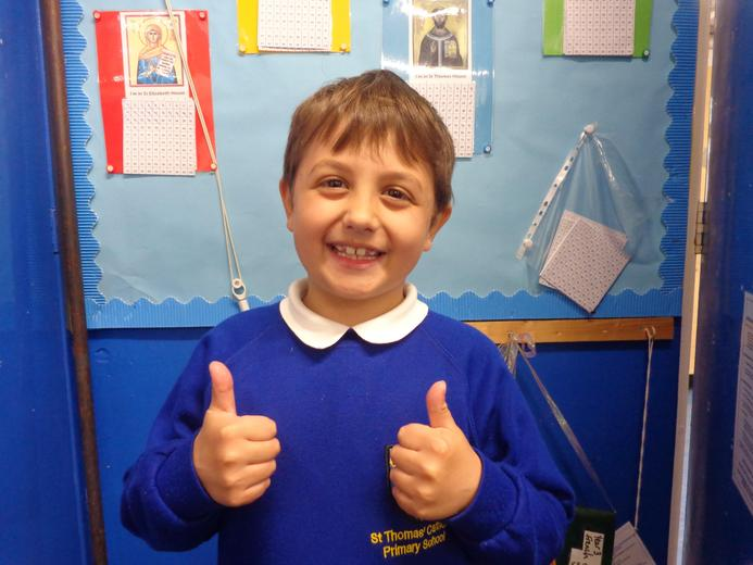 Well done to our star of the week - for his fantastic effort in all areas of his learning