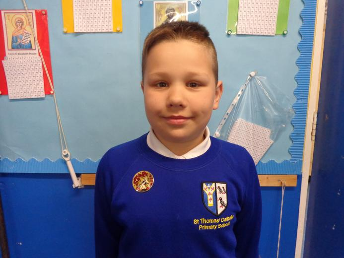 Well done to our star of the week - for his fabulous effort in his reading.