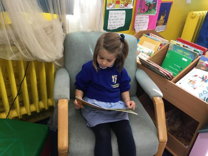 Enjoying reading!