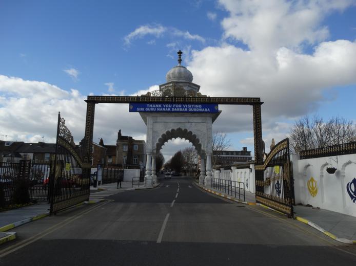 The Guru Nanak Darbar Gurdwara in Gravesend