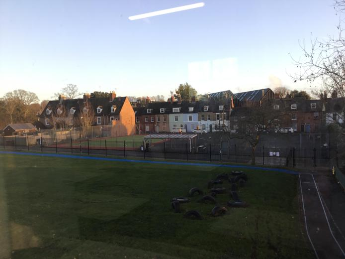 School Field & Playground including Daily Mile Track