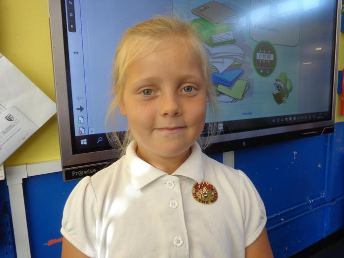 Well done to our star of the week for her wonderful enthusiasm to life in year 3