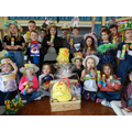 Winners of the Easter Bonnet competition
