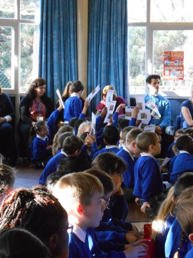 Year 3 sharing their learning in assembly
