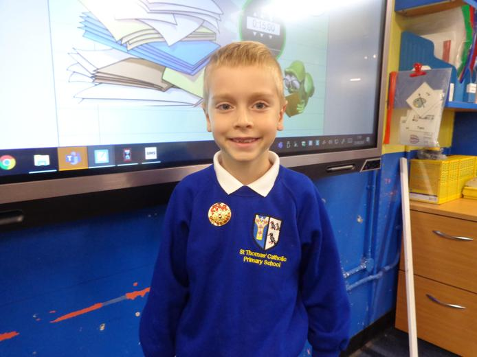 Well done to our star of the week - for his fantastic work and attitude.