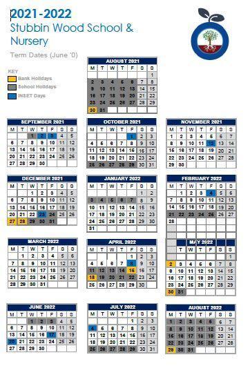 Term Dates 2021-2022