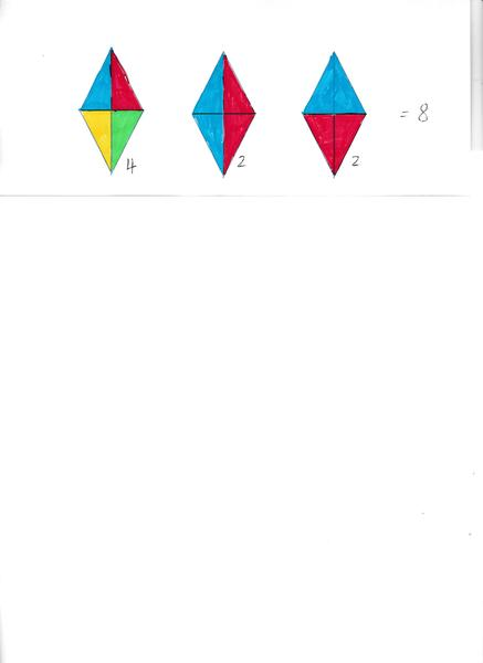 1) 8 triangles