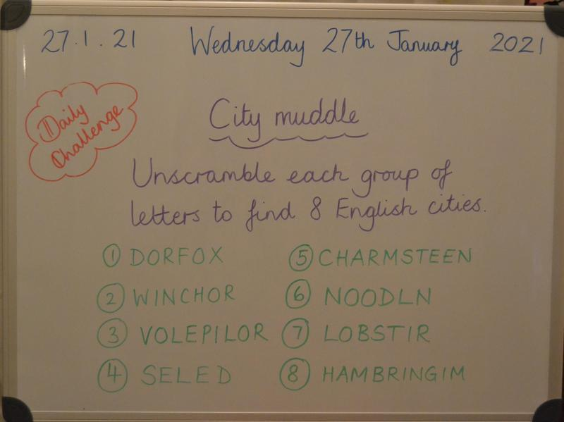 Wednesday 27th January
