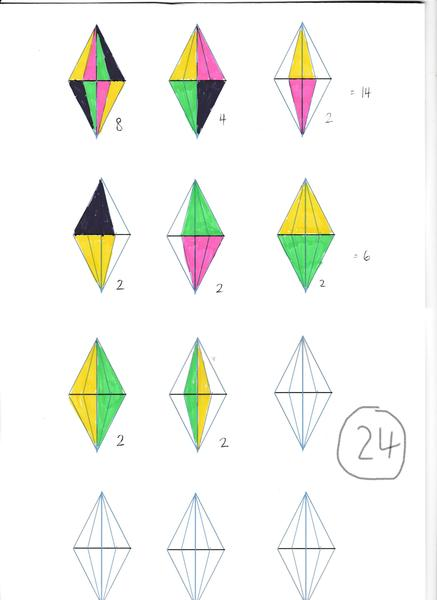 2) 24 triangles